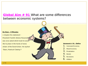 Global Aim # 91 What are some differences between economic