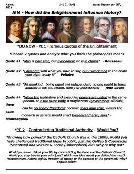 Global History 10th Grade - Unit 21 Scientific Rev/Enlight