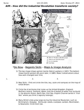 Global History 10th Grade - Unit 23 Agrarian & Industrial