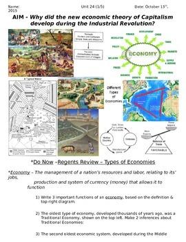 Global History 10th Grade - Unit 24 Capitalism & Communism