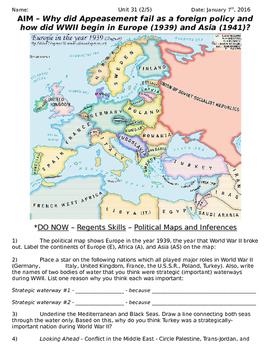 Global History 10th Grade - Unit 31 World War II in Europe