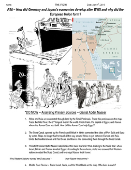 Global History 10th Grade - Unit 37 Growth of Global Econo