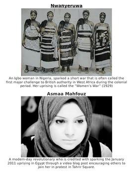 Global History - Female Revolutionaries Handout