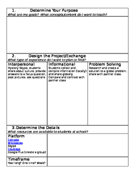 Global Project Planning Template