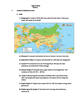 Global Regents Review Sheet #5 Chinese and Mongolian Clvzs