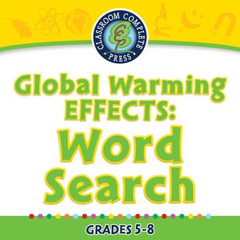 Global Warming EFFECTS: Word Search - MAC Gr. 5-8