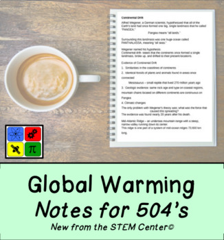 Global Warming Notes: Editable