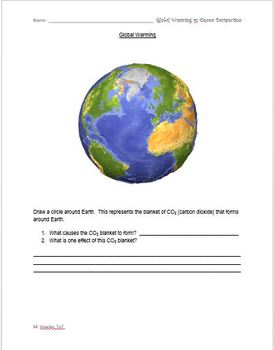 Global Warming vs Ozone Depletion Review Sheets