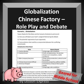 Globalization China Factory -- Class Scenario and Debate