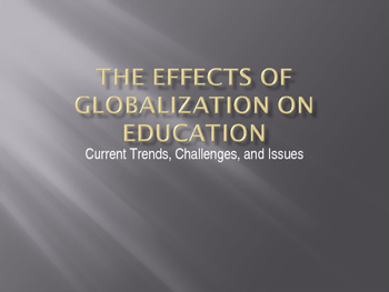 Globaliztion and education