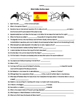 Globe Trekker Northern Spain viewing guide worksheet