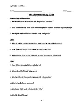 Glory Field Exam Study Guide
