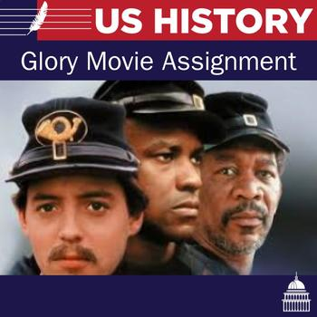 Glory Movie Permission slip, Notes, and Movie Review Assignment