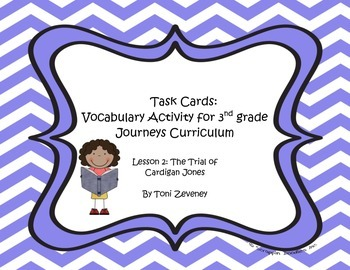 Glossary Task Cards for Journeys 3rd Grade