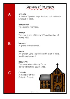 Glossary of the Tudors