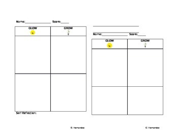 Glow and Grow Conferencing Sheet