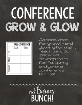 Glow and Grow! Fall and Spring Conference Forms