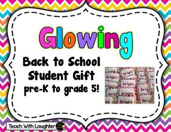 Glowing Back to School Student Gift (Freebie)