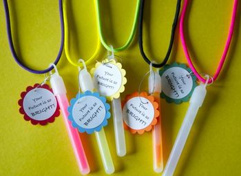 Glowstick Necklaces for Open House/Back to School etc. (So