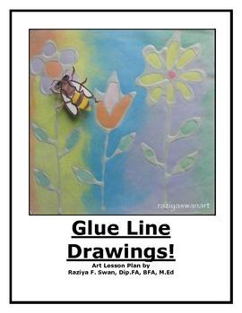 Glue Line Drawings!!! Art Lesson!!
