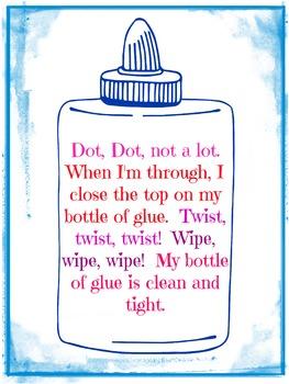 Glue Reminder Poster