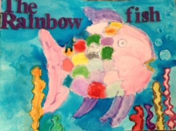 Glue Resist Rainbow Fish