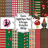 Gnome Digital Paper- 16 Designs- 12 by 12- 300 dpi