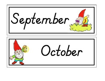 "Gnome ""Months of the Year"""