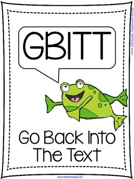 Reading Comprehension Poster GBITT Go Back Into The Text