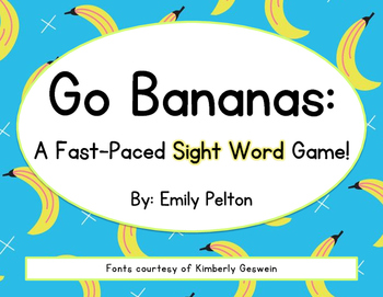 Go Bananas: A Fast-Paced Sight Word Game (back by popular