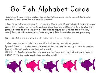 Go Fish Alphabet Cards