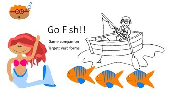 Go Fish Game Companion to target verb forms