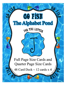 Go Fish Game for the letter J ~ Full Page Cards and Quarte