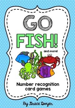 Number Recognition Card Games 1-10 / 1 set of cards = 10+