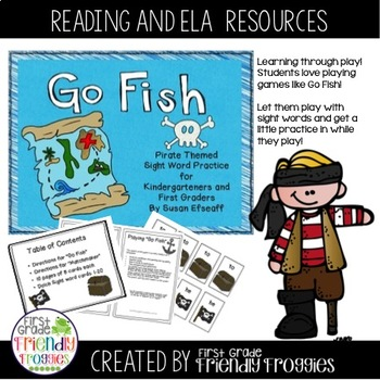 Literacy Center Game - Go Fish - Pirate Themed Dolch Sight