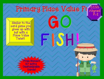 """""""Go Fish""""  for Place Value Primary Version"""