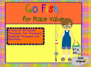 """""""Go Fish"""" for Place Value Upper Elementary Version"""