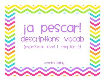 Go Fish game for Exprésate 1 Chapter 2.1 Descriptions vocabulary