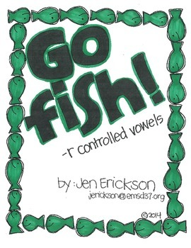 Go Fish!  (-r controlled vowels)
