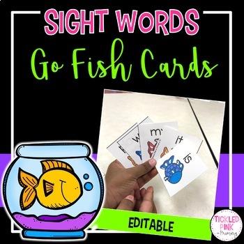 Sight Word Go Fish (editable)