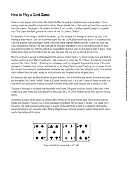 Go Fish with Rules and Target Structures for Present Simpl