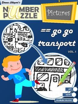 Go Go Transport Number Puzzle Pictures Volume I
