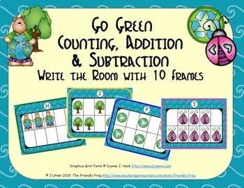 Go Green Counting, Addition & Subtraction with Ten Frames