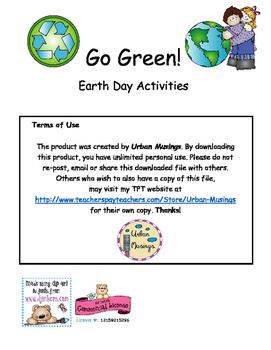 Go Green - Earth Day Activities