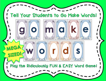 Go Make Words! The Ridiculously FUN & EASY Word Game (MEGA