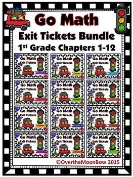 Go Math 1st Grade Exit Tickets – Bundle