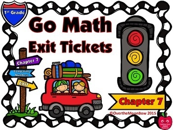 Go Math 1st Grade Exit Tickets – Chapter 7: Comparing Numbers