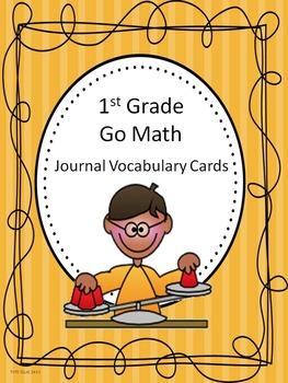 Go Math 1st Grade Journal Vocabulary Cards