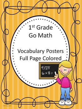 Go Math 1st Grade Full Page Colored Vocabulary Posters
