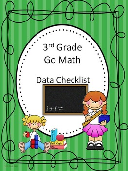 Go Math 3rd Grade Data Checklists